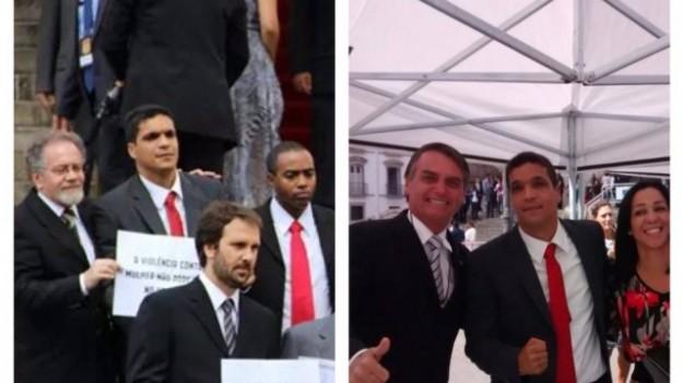 Daciolo com Bolsonaro.  foto revoltou os membros do Psol.