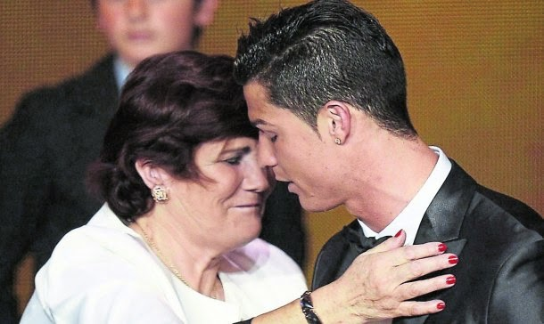 Maria Dolores e Cristiano Ronaldo.