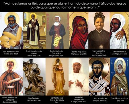 Santos negros católicos.