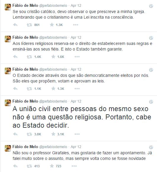 Padre Fábio de Melo defende união gay.
