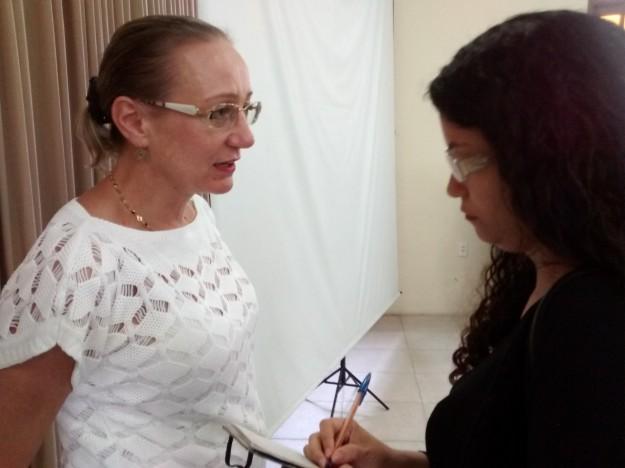 Ursula Mathias em entrevista ao portal comshalom.
