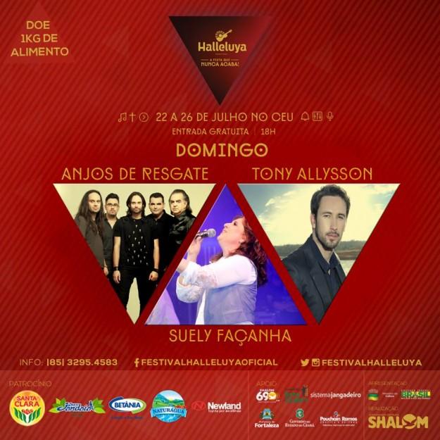Festival Halleluya 2015 domingo atrações