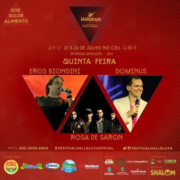 Festival Halleluya 2015 quinta atrações