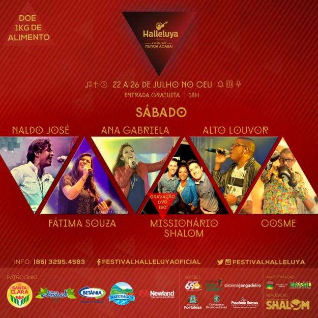 Festival Halleluya 2015 sabado atrações