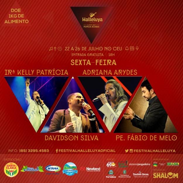 Festival Halleluya 2015 sexta atrações