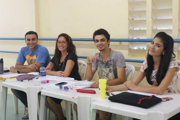 Higor Fernandes, Milza Gama,Felipe Kustela, Aline Monteiro. (da esq. para dir.)