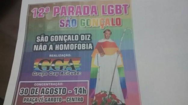 Flagrante desrespeito da militância LGBT aos cristãos.