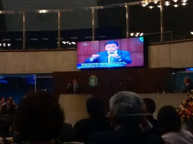 Moysés em pronunciamento na Assembleia Legislativa do Ceará.