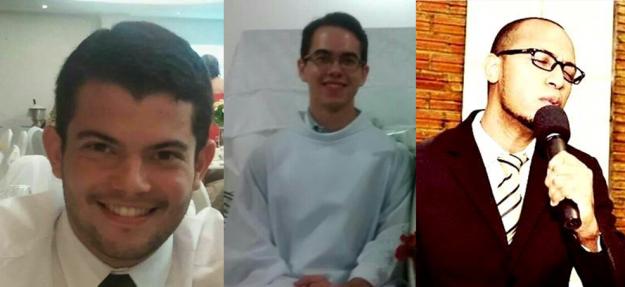 Lucas, Diego e Jairo deixaram tudo para trilhar um caminho rumo ao sacerdócio.