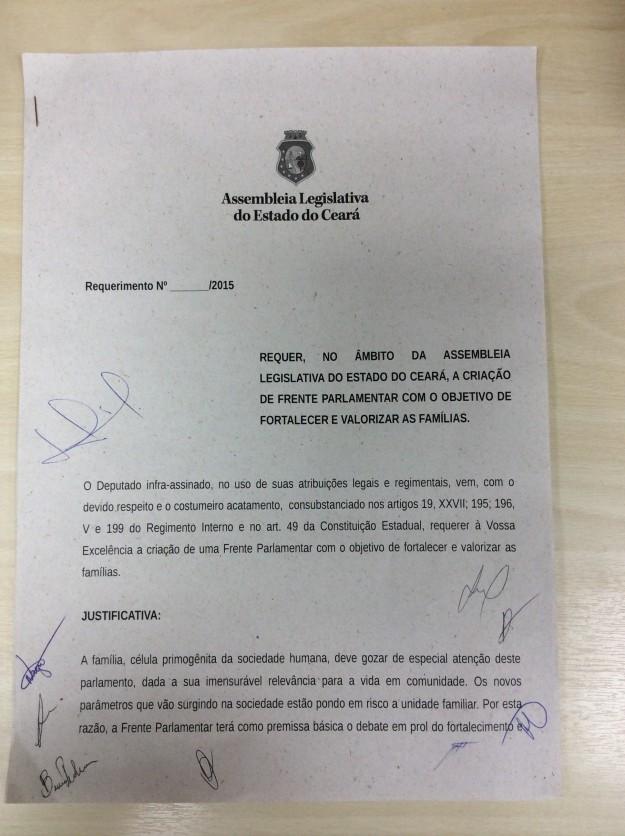 Documento de criação da Frente.