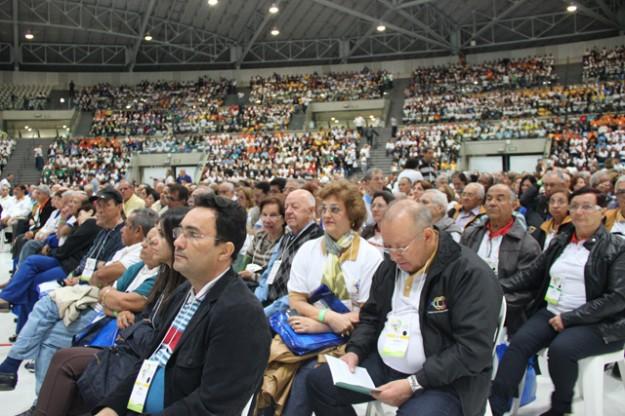 Equipistas no encontro nacional realizado em Aparecida (SP).