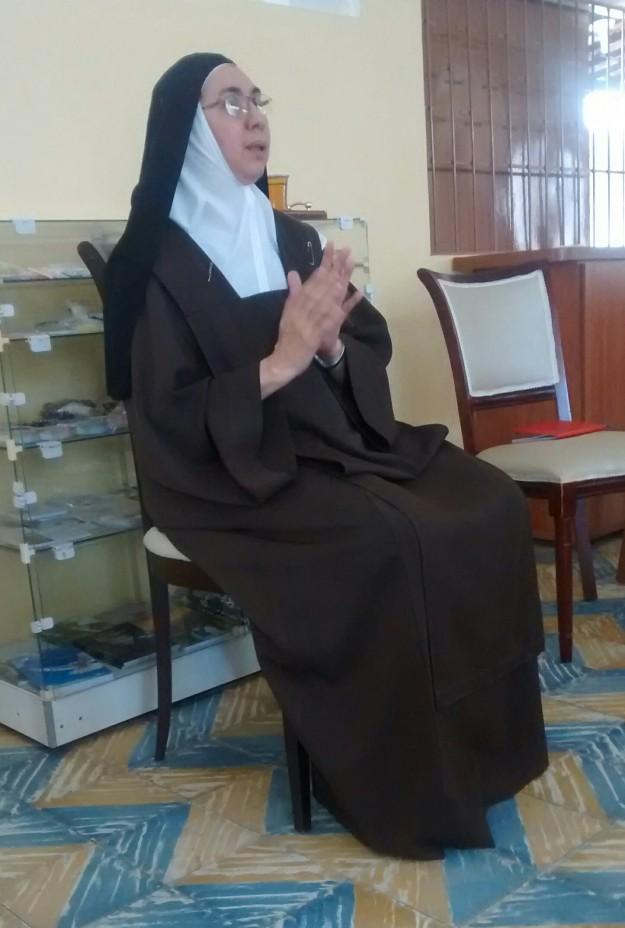 """Madre Bernadete: """"o que mais nos custa é ceder para o outro""""."""