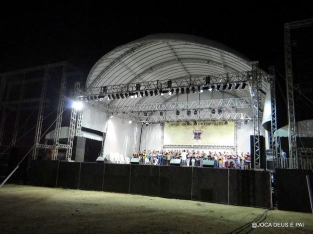 Coral ensaia para a Festa do Jubileu Centenário.