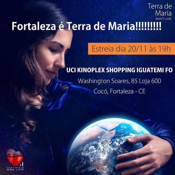 Terra de Maria  chega a Fortaleza.