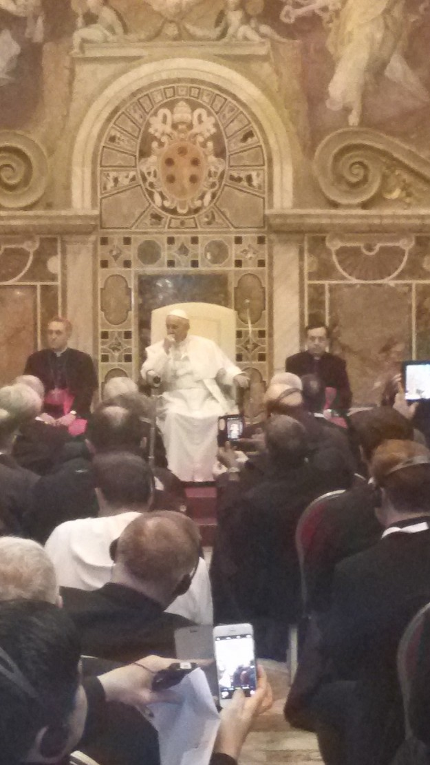Papa Francisco. Registro de Padre Rafhael. Arquivo pessoal.