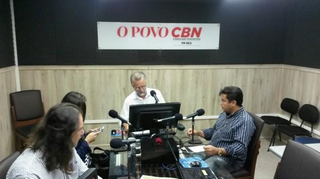 Estúdio da Rádio O POVO /CBN. Foto: Alan.