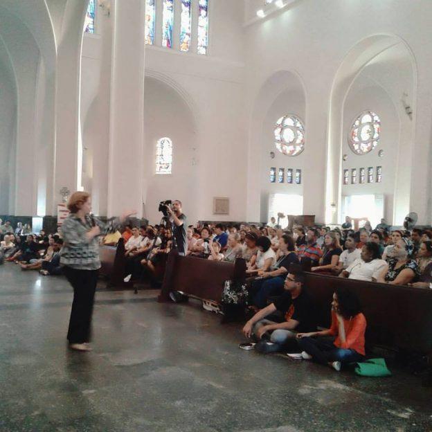 Emmir Nogueira, na Catedral Metropolitana de Fortaleza. Foto: Jussara Marques.