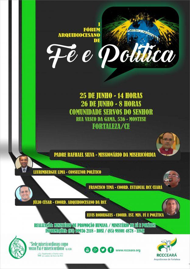 Missionário da Misericórdia participará do Fórum sobre Fé e Política.
