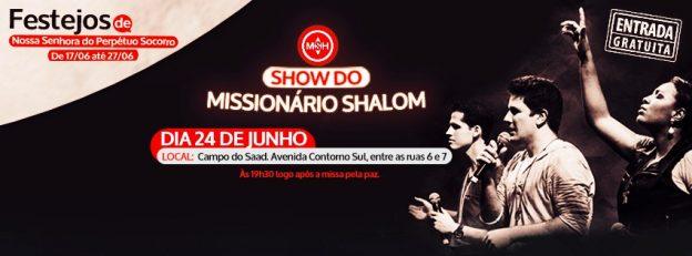 Show será momento de evangelização na Festa da Padroeira.