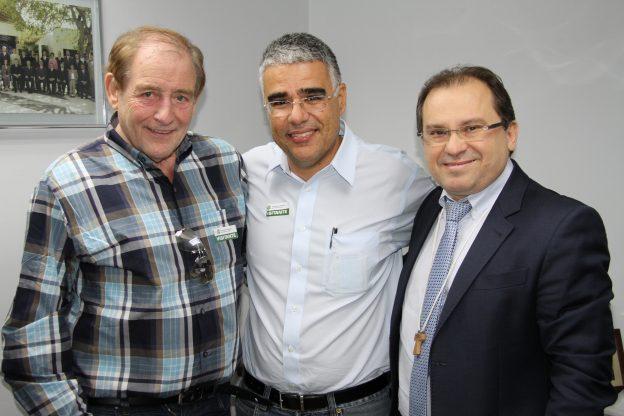 Ao centro, Luis Eduardo Girão, da Estação Luz, distribuidor nacional do filme. Foto: Petrônio Brasileiro