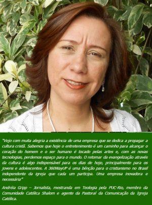 Andréia Gripp, jornalista, Rio de Janeiro.