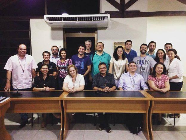 Membros do Shalom que participaram do Retiro de escuta.