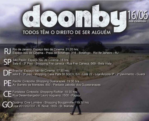 Confira horários de Doonby nos cinemas.