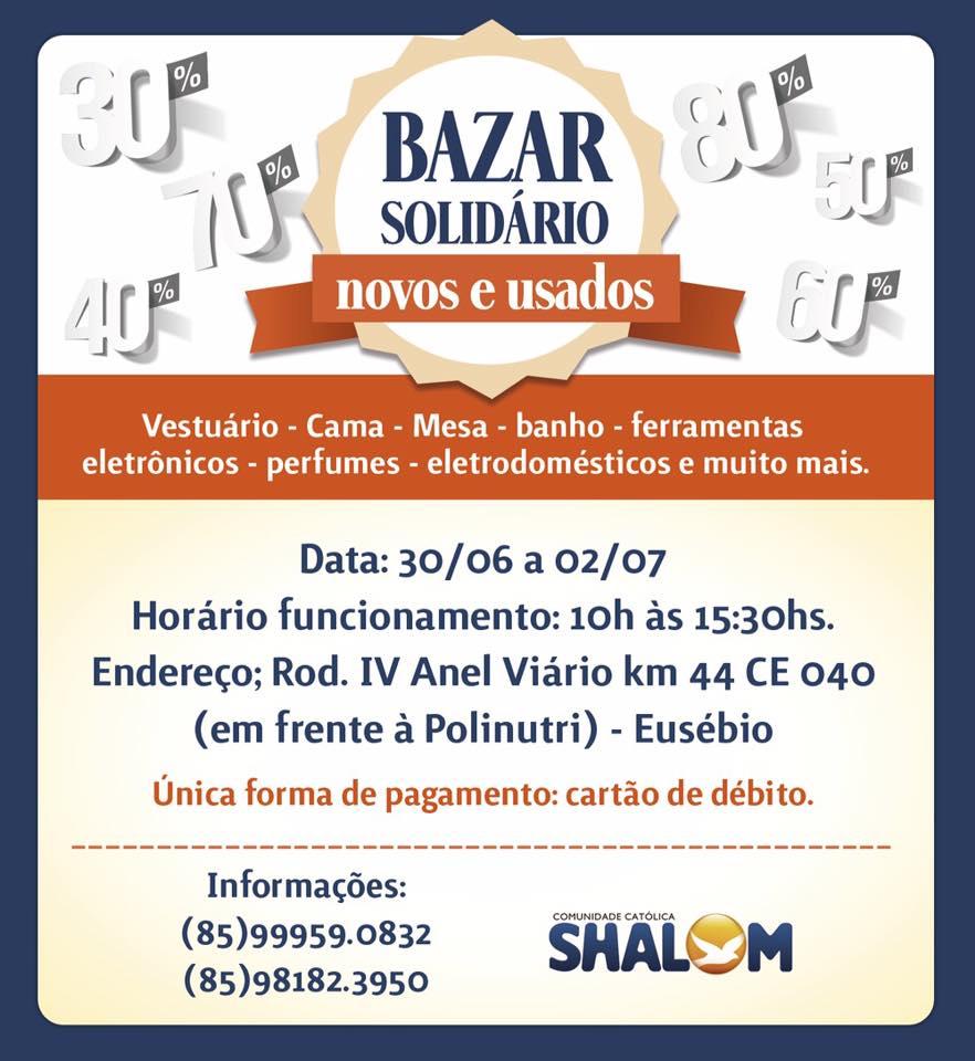210300c1e15 Shalom realiza Bazar Solidário em prol de construção de Igreja em Aquiraz -  Ancoradouro