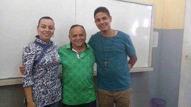 Raquel, Padre Almir e Radameques.