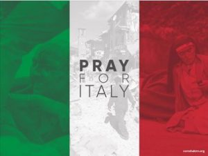 Shalom pede orações para a Itália.