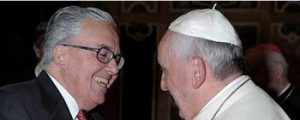 Papa Francisco e o Professor Gúzman.