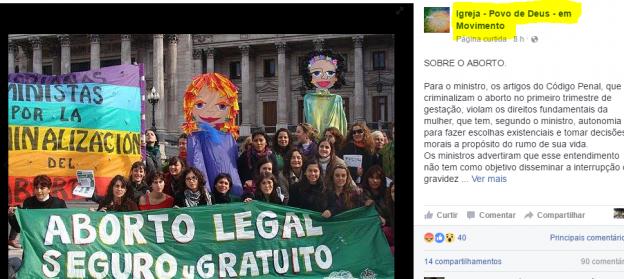 Grupo de diz católico e defensor do aborto.