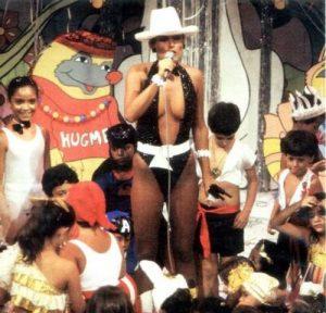 Xuxa no programa Clube da Criança.