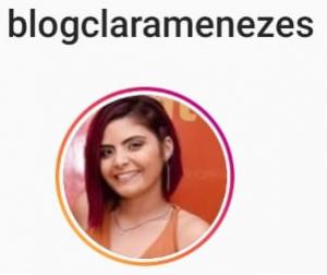 Foto de perfil do instagram @blogclaramenezes