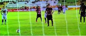 Guarany abriu o placar num gol de pênalti
