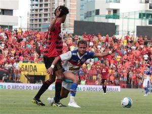 O esforço de Everton não evitou a derrota do Leão na Ilha. Foto: site oficial