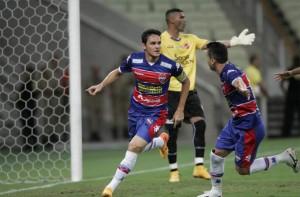 Capitão Lima abriu o placar no Castelão. Foto: Futebol Interior