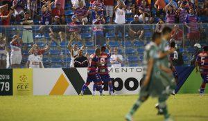 Fortaleza usou os 30 minutos finais para vencer a partida. Foto: Fabio Lima