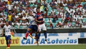 Fortaleza jogou bem, mas não conseguiu a vitória na Fonte Nova. Foto: Margarida Neide