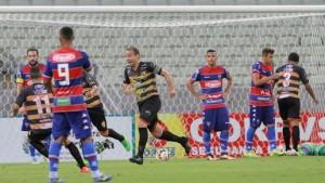 O jovem time do Fortaleza não segurou o Guaraju no Castelão. Foto: Tatiana Fortes