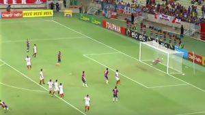 Jean Mota fez um belo gol de falta, fechando o placar