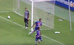 Sobralense aproveita bela jogada de Juninho e marca o gol da vitória