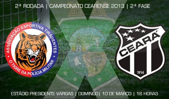 Tiradentes x Ceará – Vencer e convencer! (Imagem: Cearasc.com/Divulgação)