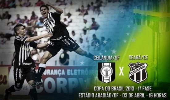 Ceilândia x Ceará – Superando obstáculos (Imagem: Cearasc.com/Divulgação)