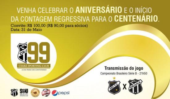 #Ceará99Anos: Ponta pé para o centenário (Imagem: Cearasc;com/Divulgação)