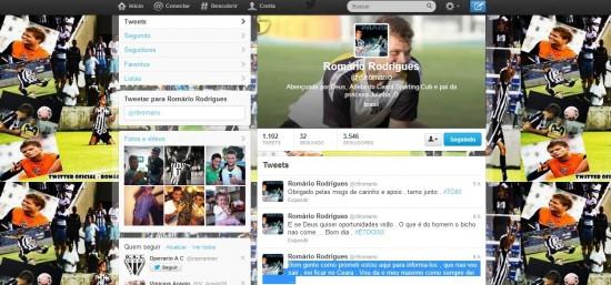 Romário confirma via twitter que ficará no Vozão