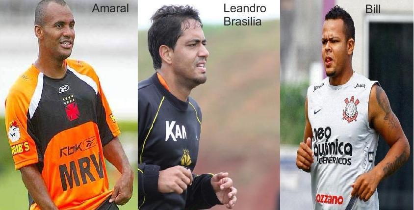 Amaral, Leandro Brasilia e Bill, as caras novas no Vozão (Foto:Divulgação)