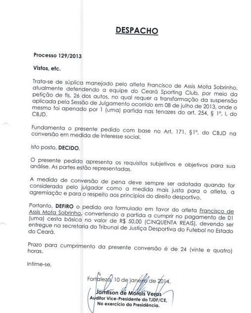 despacho-Ceará