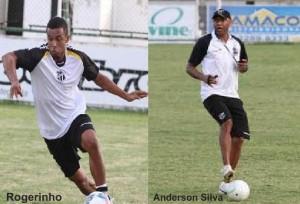 Rogerinho saindo e Anderson Silva voltando (Divulgação)