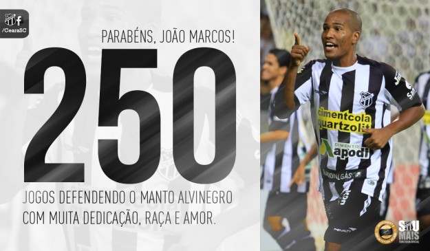 João Marcos já é parte da história do Vozão. (Foto/Imagem: Cearasc.com/Divulgação)